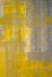 Pintura gris y amarilla del arte abstracto Imagen de archivo libre de regalías