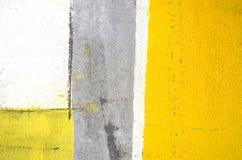 Pintura gris y amarilla del arte abstracto Imagen de archivo