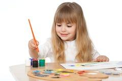 Pintura hermosa de la niña Imagenes de archivo