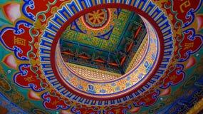 pintura hermosa en Sek Anuson Wat Leng Noei Yi 2, nonthaburi, Tailandia de Wat Borom Racha Kanchana Phi Imagenes de archivo