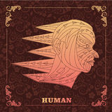Pintura humana, decorativa Fotografia de Stock Royalty Free