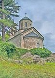 Pintura Iglesia en el cetinje, Montenegro imagenes de archivo