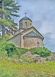 Pintura Igreja no cetinje, Montenegro imagens de stock
