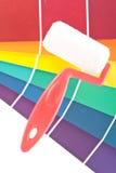 Pintura interior casera del color Imágenes de archivo libres de regalías