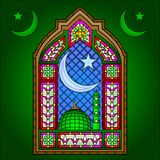 Pintura islâmica do vitral ilustração do vetor