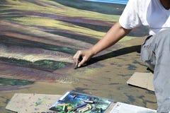 Pintura italiana da rua Foto de Stock