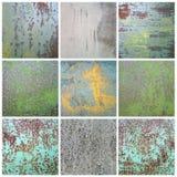 Pintura lascada coleção na superfície de metal oxidada ilustração royalty free