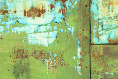 Pintura lascada na textura da superfície do ferro Imagem de Stock Royalty Free