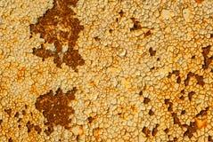 Pintura lascada na textura da superfície do ferro fotografia de stock royalty free