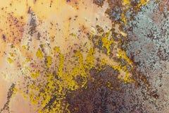Pintura lascada na textura oxidada, fundo do metal do grunge Imagens de Stock