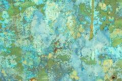 Pintura lascada no fundo da textura da superfície do ferro imagens de stock