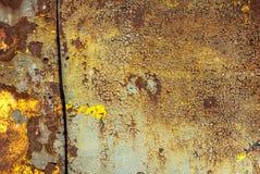 Pintura lascada no fundo da textura da superfície do ferro fotos de stock royalty free