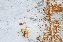 Pintura lascada no fundo da textura da superfície do ferro fotografia de stock