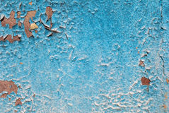 Pintura lascada no muro de cimento velho foto de stock