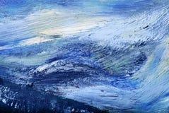 Pintura a óleo abstrata Fotografia de Stock