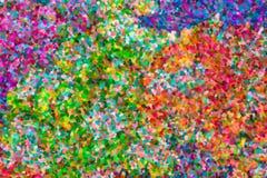 Pintura a óleo abstrata do pointillist Fotografia de Stock