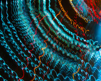 Pintura ligera con el movimiento de la cámara del fondo colorido Fotografía de archivo libre de regalías