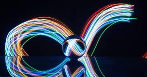 Pintura ligera con la bola de cristal imagen de archivo libre de regalías