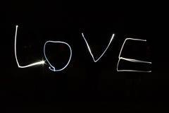 Pintura ligera el amor de la palabra Fotografía de archivo