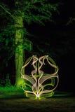 Pintura ligera en bosque Fotografía de archivo libre de regalías