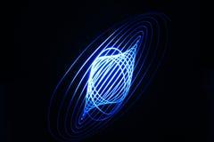 Pintura ligera, espiral azul fotos de archivo libres de regalías