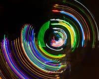 Pintura ligera por el movimiento de la cámara del fondo colorido Foto de archivo libre de regalías