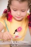 Pintura linda de la niña Foto de archivo libre de regalías