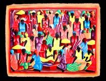 Pintura local da arte das Caraíbas imagens de stock royalty free