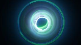 Pintura longa da luz da exposição dos círculos dinâmicos Imagens de Stock