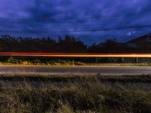 Pintura longa da luz da exposição Imagens de Stock Royalty Free