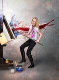 Artista criativo do pintor Imagens de Stock Royalty Free