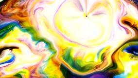 A pintura mágica místico da tinta do sumário explode a propagação video estoque
