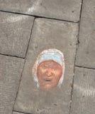 Pintura Madre Teresa de Calcutá Imagens de Stock Royalty Free
