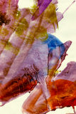 Pintura magullada de Grunge del Watercolour Fotos de archivo