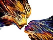 Pintura metafórica de la mente stock de ilustración