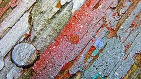 Pintura, metal y madera Fotografía de archivo libre de regalías