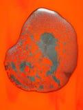 Pintura mojada abstracta en rojo   Imagenes de archivo