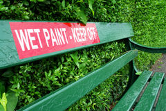 Pintura molhada Fotos de Stock