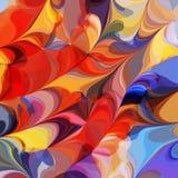 Pintura multicolora de la acuarela del fondo Fotos de archivo libres de regalías