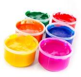 Pintura multicolora de la gouache fotografía de archivo libre de regalías