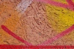 Pintura multicolorido dos grafittis Fotografia de Stock