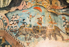 A pintura mural é mais velha de 120 anos Fotografia de Stock