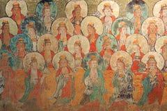 Pintura mural antiga dos lombos imagem de stock