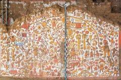 Pintura mural antiga no Peru fotografia de stock royalty free