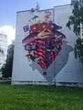 Pintura mural, Banja Luka, B&H fotografia de stock