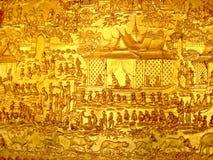 Pintura mural budista Fotos de Stock Royalty Free