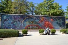 Pintura mural completa da parede Imagens de Stock