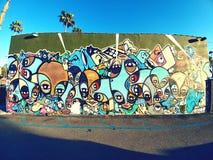 Pintura mural da comunidade Fotos de Stock Royalty Free