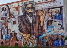 Pintura mural da parede dos direitos civis fotografia de stock royalty free