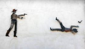 Pintura mural da parede em San Sperate Foto de Stock